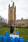 Douglas Alexander MP. Marking World Water Day, over 40 MP's walked for water at Westminster, London at an event organised by WaterAid and Tearfund. Globally hundreds of thousands of people took part in the campaign to raise awareness of the world water crisis.