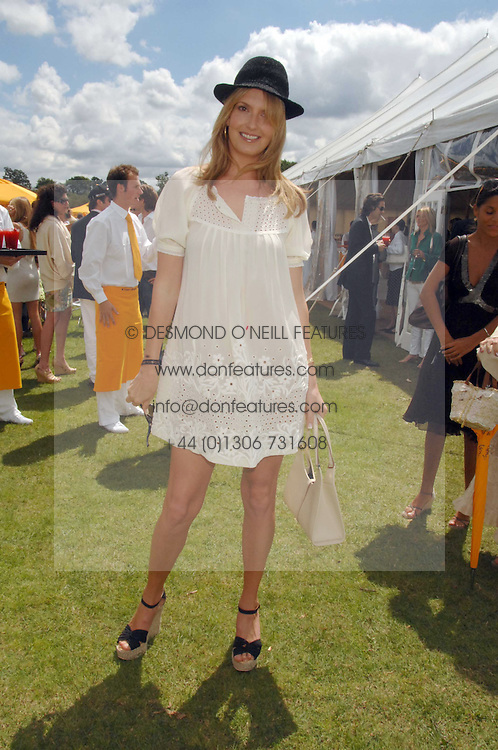 PENNY LANCASTER wife of singer Rod Stewart at the final of the Veuve Clicquot Gold Cup 2007 at Cowdray Park, West Sussex on 22nd July 2007.<br />
