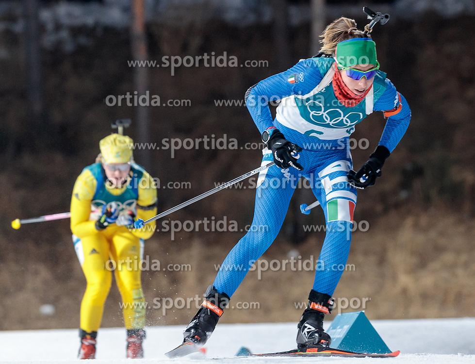 12.02.2018, Alpensia Biathlon Centre, Pyeongchang, KOR, PyeongChang 2018, Biathlon, Damen, Verfolgung, im Bild Lisa Vittozzi (ITA) // Lisa Vittozzi of Italy during the Ladies Biathlon Pursuit of the Pyeongchang 2018 Winter Olympic Games at the Alpensia Biathlon Centre in Pyeongchang, South Korea on 2018/02/12. EXPA Pictures © 2018, PhotoCredit: EXPA/ Johann Groder