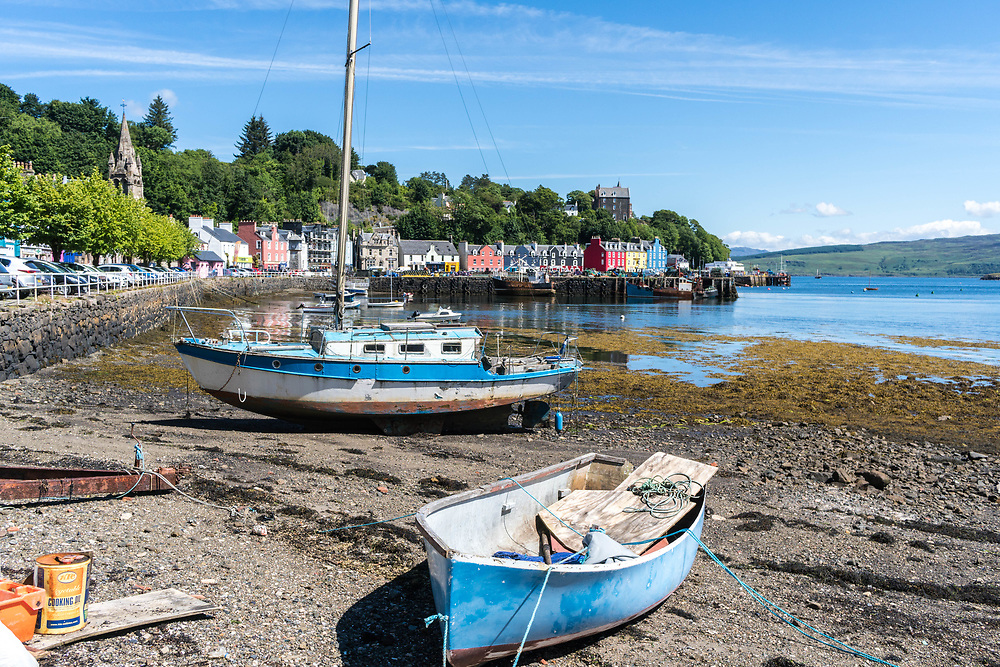 The colorful town of Tobermory is one of the ferry landing points on the Isle of Mull.