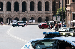 July 4, 2018 - Rome, Italy, Italy - Bomb alarm under Capitol for an unattended suitcase,  The artificers checked the baggage in via del Teatro Marcello, then the road was reopened for ceased alarm. (Credit Image: © Andrea Ronchini/Pacific Press via ZUMA Wire)