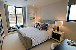 **Home supplement** © Ben Cawthra. 22/01/2013. A second bedroom of the penthouse apartment of The Lansbury, on Basil Street, London, recently refurbished in to 6 luxury apartments opposite Harrods in central London. Photo credit: Ben Cawthra.