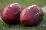SAN DIEGO, CA - AUGUST 30:  Two footballs on the grass at the San Diego Chargers NFL preseason game with the San Francisco 49ers at Qualcomm Stadium on August 30, 2007 in San Diego, California. The Chargers defeated the 49ers 16-13. ©Paul Anthony Spinelli