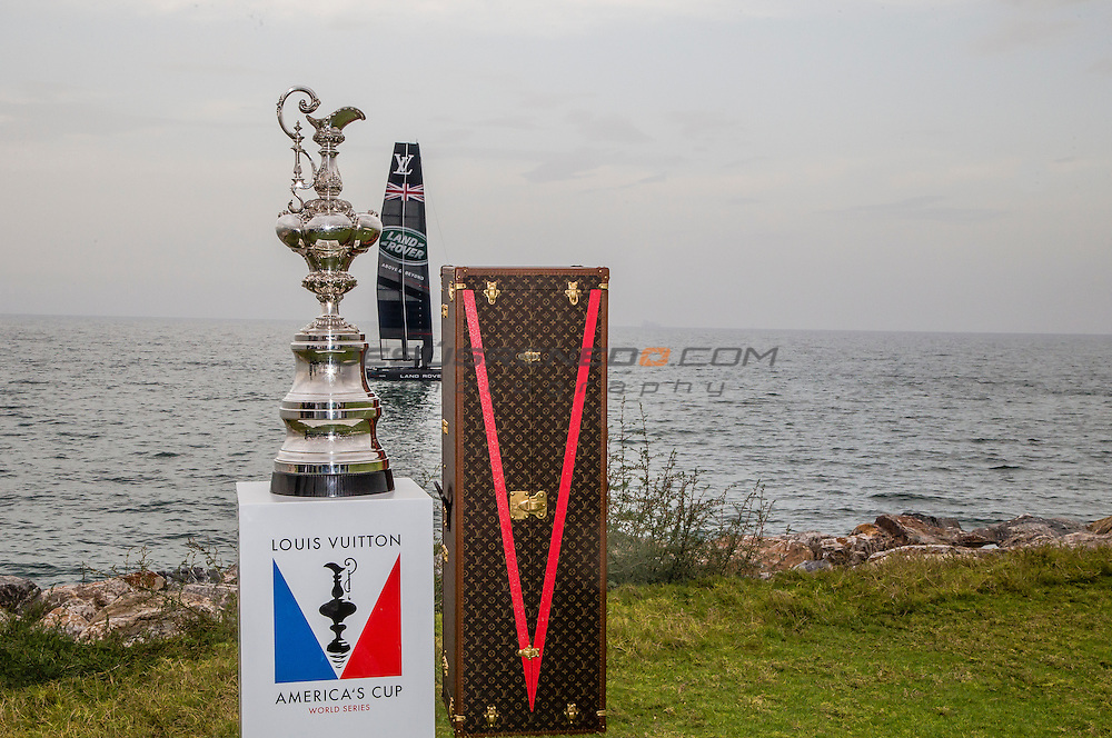 Louis Vuitton America's Cup World Series Oman 2016.Prize giving ceremony, 28th of February 2016.Muscat ,The Sultanate of Oman.Image licensed to Jesus Renedo/Lloyd images/Oman Sail