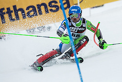 "Zan Groselj (SLO) competes during 1st Run of FIS Alpine Ski World Cup 2017/18 Men's Slalom race named ""Snow Queen Trophy 2018"", on January 4, 2018 in Course Crveni Spust at Sljeme hill, Zagreb, Croatia. Photo by Vid Ponikvar / Sportida"
