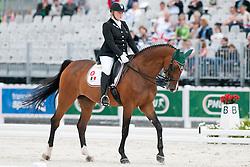 Erika Baitenlamann riding Casablanca in the Grade II Para-Dressage at the 2014 World Equestrian Games, Caen, Normandy, France.