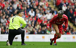 LIVERPOOL, ENGLAND - SUNDAY MARCH 27th 2005: Liverpool Legends' Ian Rush and Celebrity XI's Eric Nixon during the Tsunami Soccer Aid match at Anfield. (Pic by David Rawcliffe/Propaganda)
