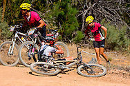 GORDON'S BAY, SOUTH AFRICA - Riders take strain during stage one of the Absa Cape Epic Mountain Bike Stage Race held between Gordon's Bay and Villiersdorp on the 22 March 2009 in the Western Cape, South Africa..Photo by Karin Schermbrucker / SPORTZPICS