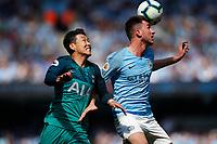 Football - 2018 / 2019 Premier League - Manchester City vs Tottenham Hotspur<br /> <br /> Son Heung-Min of Tottenham Hotspur and Aymeric Laporte of Manchester City at the Etihad<br /> <br /> COLORSPORT/LYNNE CAMERON
