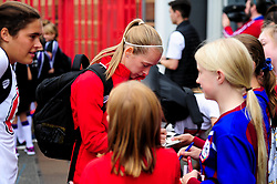 Flo Allen of Bristol City arrives at Ashton Gate prior to kick off - Mandatory by-line: Ryan Hiscott/JMP - 07/09/2019 - FOOTBALL - Ashton Gate - Bristol, England - Bristol City Women v Brighton and Hove Albion Women - FA Women's Super League