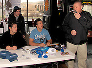 Some Dayton Gems players stopped by Brixx Ice Company during lunch to visit with fans (and potential fans,) across from Fifth Third Field, Tuesday, January 19, 2010.