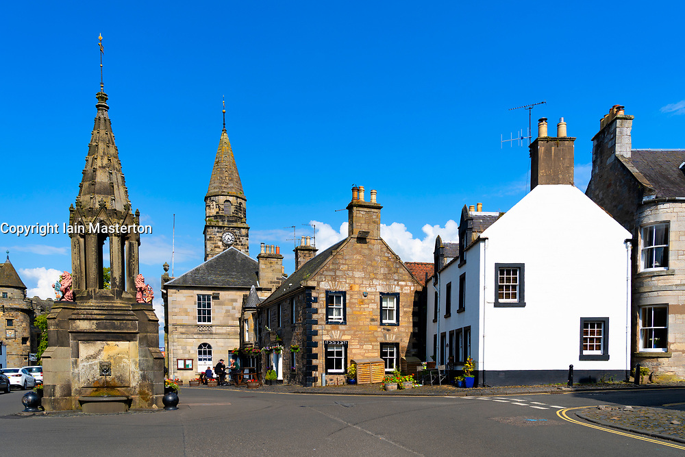 View of High Street in Falkland, Fife, Scotland, UK
