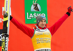 Kamil Stoch (POL), 3rd placed in Overall Ski Flying classification celebrates at trophy ceremony after the Ski Flying Hill Men's Individual Competition at Day 4 of FIS Ski Jumping World Cup Final 2017, on March 26, 2017 in Planica, Slovenia. Photo by Vid Ponikvar / Sportida