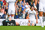 Leeds United midfielder Jack Harrison (22) reacts during the EFL Sky Bet Championship match between Leeds United and Swansea City at Elland Road, Leeds, England on 31 August 2019.