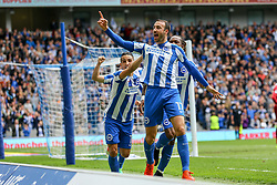 Goal, Glenn Murray of Brighton & Hove Albion scores, Brighton & Hove Albion 1-0 Wigan Athletic - Mandatory by-line: Jason Brown/JMP - 17/04/2017 - FOOTBALL - Amex Stadium - Brighton, England - Brighton and Hove Albion v Wigan Athletic - Sky Bet Championship