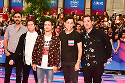 June 18, 2017 - Toronto, Ontario, Canada - Arkells NICK DIKA, ANTHONY CARONE, MIKE DEANGELIS, MAX KERMAN and TIM OXFORD   arrive at the 2017 iHeartRADIO MuchMusic Video Awards at MuchMusic HQ on June 18, 2017 in Toronto (Credit Image: © Igor Vidyashev via ZUMA Wire)