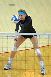 23 November 2017:  Sarah Peterson during a college women's volleyball match between the Drake Bulldogs and the Indiana State Sycamores in the Missouri Valley Conference Tournament at Redbird Arena in Normal IL (Photo by Alan Look)