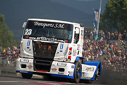 06.07.2013, Red Bull Ring, Spielberg, AUT, Truck Race Trophy, Renntag 1, im Bild Jose Teodosio (#23) // during the Truck Race Trophy 2013 at the Red Bull Ring in Spielberg, Austria, 2013/07/06, EXPA Pictures © 2013, PhotoCredit: EXPA/ M.Kuhnke