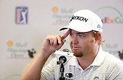 Last years SHO Champion J.B. Holmes talks to the press at the Golf Club of Houston on Tuesday, March 29, 2016 in Humble, TX. (Photo: Thomas B. Shea/For the Chronicle)