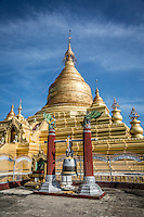 The beautiful Kuthodaw Pagoda in Mandalay is the home to the world's largest book.