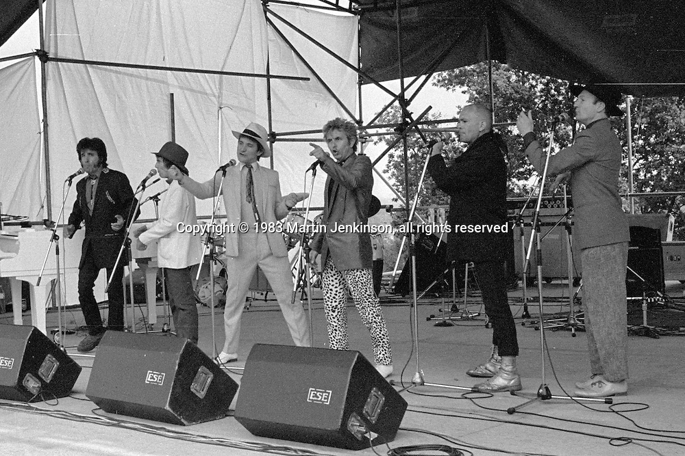 The Flying Pickets perform at Marx with Sparks. Alexander Palace.