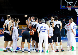 Team of Bulgaria during practice session at Eurobasket Lithuania 2011, on August 31, 2011, in Arena Svyturio, Klaipeda, Lithuania. (Photo by Vid Ponikvar / Sportida)
