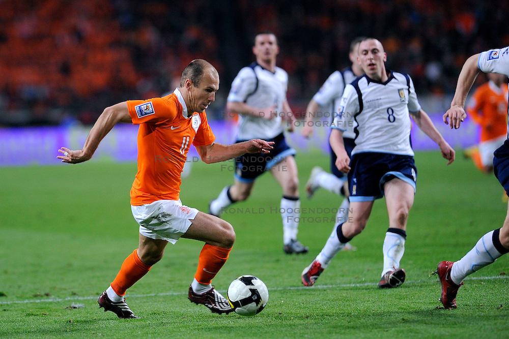 28-03-2009 VOETBAL: WK KWALIFICATIE NEDERLAND - SCHOTLAND: AMSTERDAM<br /> Arjen Robben<br /> &copy;2009-WWW.FOTOHOOGENDOORN.NL