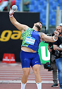 Konrad Bukowiecki (POL) wins the shot put at 72-1 (21.97m)during the 39th Golden Gala Pietro Menena in an IAAF Diamond League meet at Stadio Olimpico in Rome on Thursday, June 6, 2019. (Jiro Mochizuki/Image of Sport)