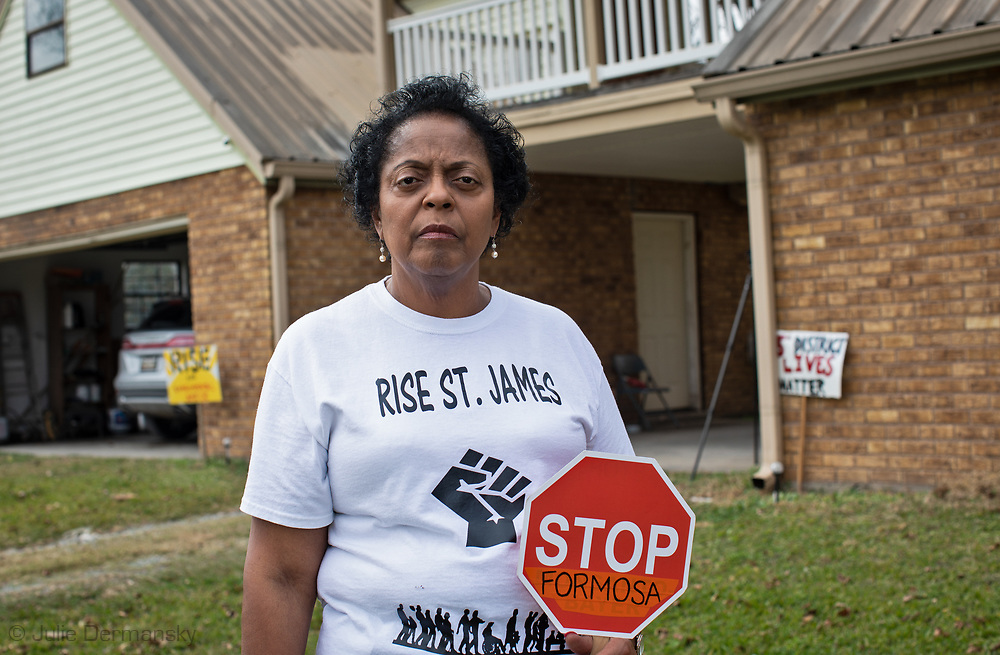 Sharon Lavinge, founder of RISE St. James at her home in St. James, Louisiana.