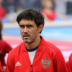 July 1, 2018 - Moscow, Russia - July 01, 2018, Russia, Moscow, FIFA World Cup 2018, the playoff round. Football match Spain - Russia at the stadium Luzhniki. Player of the national team Yuri Zhirkov. (Credit Image: © Russian Look via ZUMA Wire)