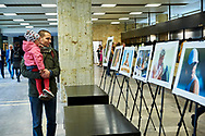 "Warsaw, Poland - 2017 April 07: Photo exhibition ""Big Blue"" of Adam Nurkiewicz while The Day of Health - science conference in the National Library on April 07, 2017 in Warsaw, Poland.<br /> <br /> Mandatory credit:<br /> Photo by © © Adam Nurkiewicz / Mediasport / Mediasport<br /> <br /> Picture also available in RAW (NEF) or TIFF format on special request.<br /> <br /> Any editorial, commercial or promotional use requires written permission from the author of image.<br /> <br /> Adam Nurkiewicz declares that he has no rights to the image of people at the photographs of his authorship."