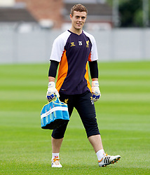 LIVERPOOL, ENGLAND - Wednesday, October 24, 2012: Liverpool's goalkeeper Tyrell Belford during a training session at Melwood Training Ground ahead of the UEFA Europa League Group A match against FC Anji Makhachkala. (Pic by Vegard Grott/Propaganda)