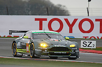 Paul Dalla lana (CAN) / Pedro Lamy (PRT) / Mathias Lauda (AUT) #98 Aston Martin Racing Aston Martin Vantage,  at Silverstone, Towcester, Northamptonshire, United Kingdom. April 15 2016. World Copyright Peter Taylor.