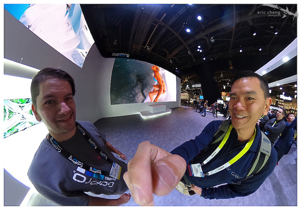 With Jim Geduldick at the GoPro booth. CES 2016, Las Vegas.