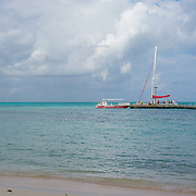 The Pier at Rum Point. Grand Cayman Island.