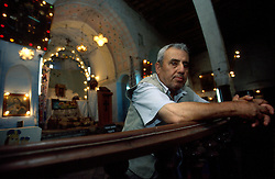 TURKEY DIYARBAKIR JUL02 - Parishioner of the Syrian Catholic church in Diyarbakir, Zeki Kasar. He heads a small Christian community that still keeps a fairly low profile in the aftermath of the recent Islamic and Kurdish resurgence...jre/Photo by Jiri Rezac..© Jiri Rezac 2002..Contact: +44 (0) 7050 110 417.Mobile:  +44 (0) 7801 337 683.Office:  +44 (0) 20 8968 9635..Email:   jiri@jirirezac.com.Web:     www.jirirezac.com