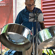 Steel Drum Player at St Nicholas Abbey in Saint Peter, Barbados