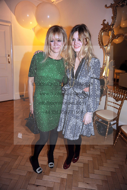 Left to right, JO WOOD and GEORGIA JAGGER at Vogue's Fantastic Fashion Fantasy Party in association with Van Cleef & Arpels to celebrate Vogue's Secret Address Book held at One Marylebone Road, London NW1 on 3rd November 2008.