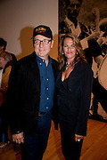KEVIN SPACEY; TRACEY EMIN, Opening of Love is what you want. Exhibition of work by Tracey Emin. Hayward Gallery. Southbank Centre. London. 16 May 2011. <br /> <br />  , -DO NOT ARCHIVE-© Copyright Photograph by Dafydd Jones. 248 Clapham Rd. London SW9 0PZ. Tel 0207 820 0771. www.dafjones.com.
