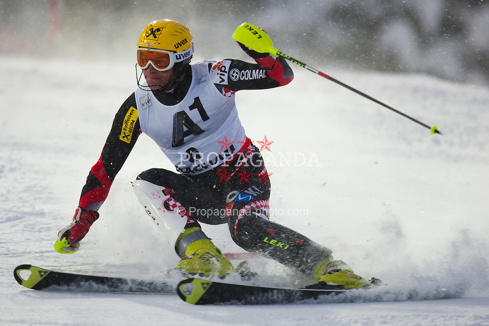 21.12.2011, Hermann Maier Weltcup Strecke, Flachau, AUT, FIS Weltcup Ski Alpin, Herren, Slalom 1. Durchgang, im Bild Ivica Kostelic (CRO) in Aktion // Ivica Kostelic of Croatia in action during Slalom race 1st run of FIS Ski Alpine World Cup at 'Hermann Maier World Cup' course in Flachau, Austria on 2011/12/21. EXPA Pictures © 2011, PhotoCredit: EXPA/ Johann Groder