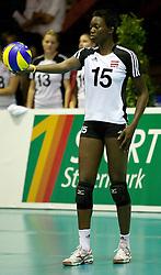 02.09.2011, ASKÖ-Halle, Graz, AUT, Volleyball Olympia-Qualifikation, AUT vs POR, im Bild Dianna Otscho (AUT), EXPA Pictures © 2011, PhotoCredit: EXPA/ Erwin Scheriau