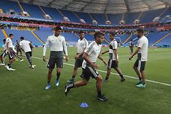 June 22, 2018 - EUM20180622DEP03.JPG.ROSTOV, Rusia, SoccerFutbol-Mundial.- 22 de junio de 2018. Sesión de entrenamiento de la Selección Mexicana de futbol en el Estadio Rostov Arena, previo al partido que tendrán ante su similar de Corea del Sur este sábado, como parte de las actividades de fase de grupos del Mundial de Rusia. Foto: Agencia EL UNIVERSALLuis CortésMAR. (Credit Image: © El Universal via ZUMA Wire)