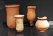 Small terracotta jars from the Indus valley, India-Pakistan, 2500-1900BC
