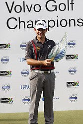 DURBAN - 12 January 2014 - South African golfer Louis Oosthuizen holds his trophy after winning the Volvo Golf Champions tournament that was held at the Durban Country Club. Picture: Allied Picture Press/APP