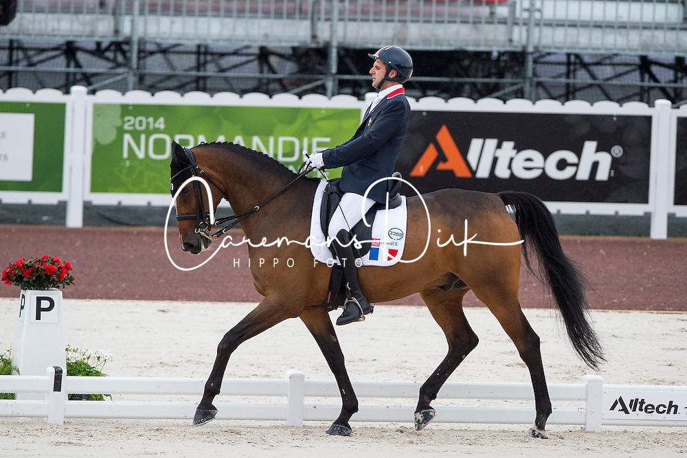 Samuel Catel, (FRA), Mogador de Valange - Team Competition Grade III Para Dressage - Alltech FEI World Equestrian Games&trade; 2014 - Normandy, France.<br /> &copy; Hippo Foto Team - Jon Stroud <br /> 25/06/14