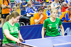 (Team SLO) DOLINAR Andreja and MEGLIC Barbara in action during 15th Slovenia Open - Thermana Lasko 2018 Table Tennis for the Disabled, on May 10, 2018 in Dvorana Tri Lilije, Lasko, Slovenia. Photo by Ziga Zupan / Sportida