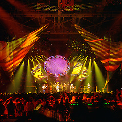 Grateful Dead in Concert 29 September 1994 at The Boston Garden. Image No. 94GDC52-11. Stage, Set and Lighing Design View. Photography taken from the lighting booth for Candace Brightman LD.