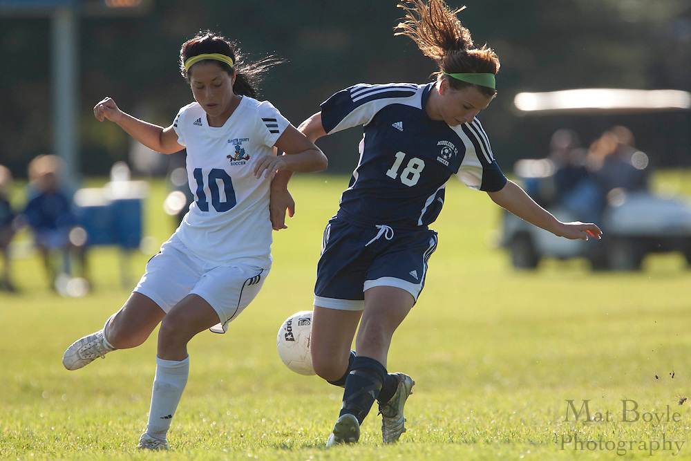 Gloucester County College Sophomore Midfielder Julia Cendejas (10)..Gloucester County College defeats Middlesex County College 1-0 in a NJCAA Region XIX Semi-Final at Gloucester County College in Sewell, NJ on Tuesday, October 25, 2011.