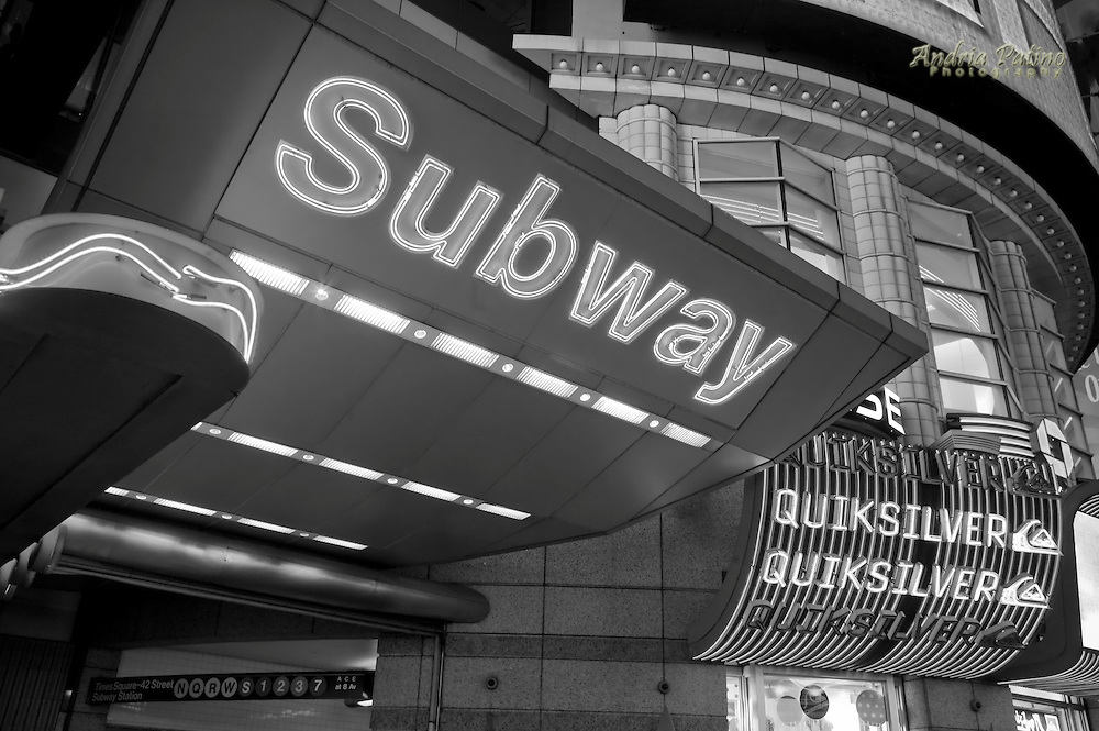 Subway Entrance, Times Square, New York