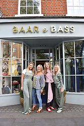 Left to right, Iona Macdonald-Smioth, Olivia Perry, Coco Struck and Maddie Chesterton at the Seren London Launch Party held at Baar And Bass, 336 Kings Road, London England. 26 April 2017.